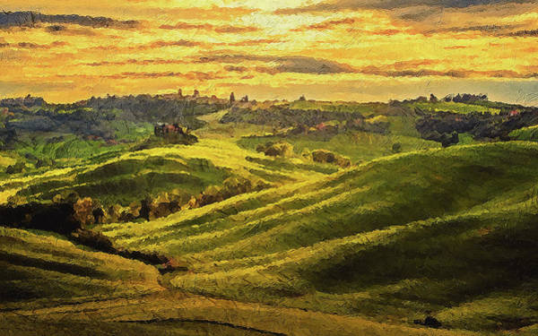 Painting - Hills Of Tuscany - 03 by Andrea Mazzocchetti