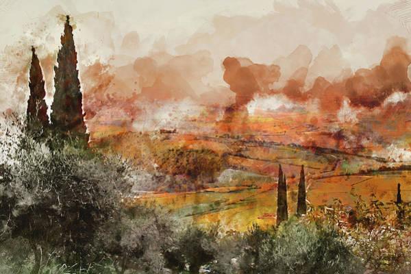 Painting - Hills Of Tuscany - 07 by Andrea Mazzocchetti