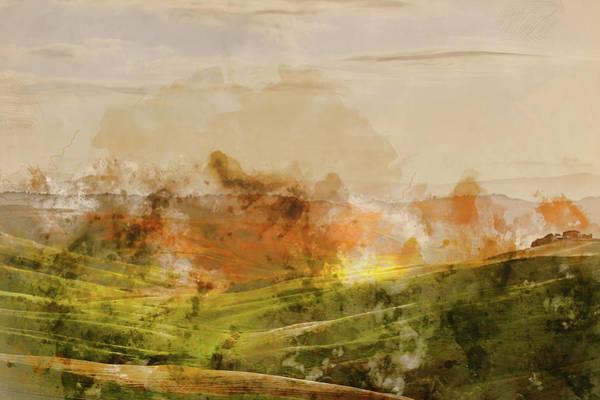 Painting - Hills Of Tuscany - 09 by Andrea Mazzocchetti
