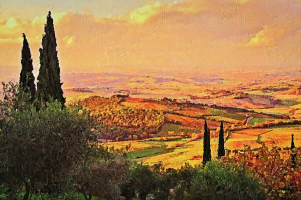 Painting - Hills Of Tuscany - 14 by Andrea Mazzocchetti