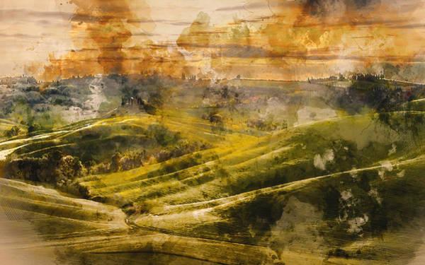 Painting - Hills Of Tuscany - 17 by Andrea Mazzocchetti