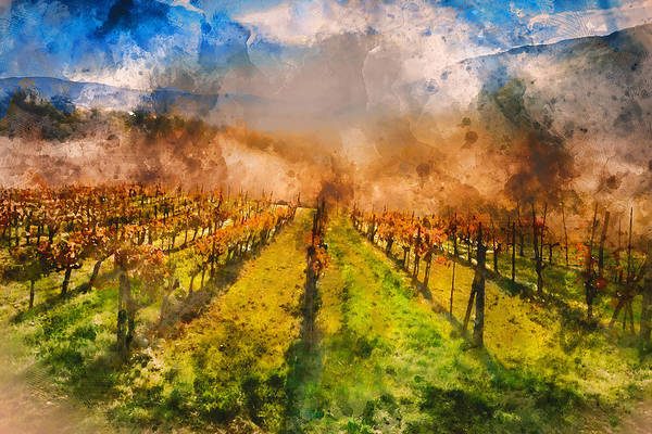 Painting - Hills Of Tuscany - 18 by Andrea Mazzocchetti