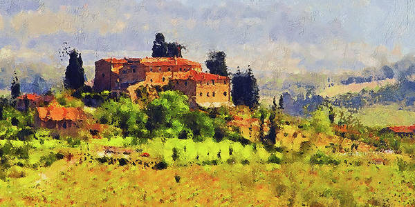 Painting - Hills Of Tuscany - 20 by Andrea Mazzocchetti