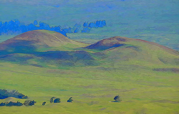 Mixed Media - Hills Of Waimea by Pamela Walton