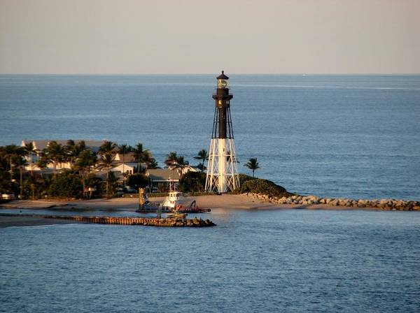 Photograph - Hillsboro Lighthouse In Florida by Corinne Carroll
