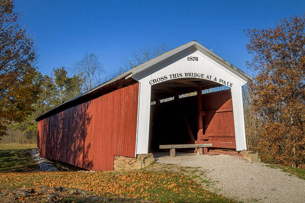 Photograph - Hillsdale/possum Bottom/jackson's Ford Covered Bridge by Jack R Perry