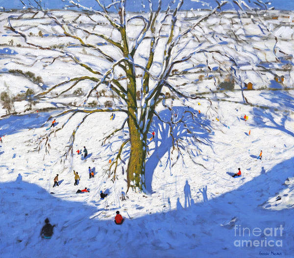 Wall Art - Painting - Hillside, Elton, Near Rowsley, Chatsworth, Derbyshire  by Andrew Macara