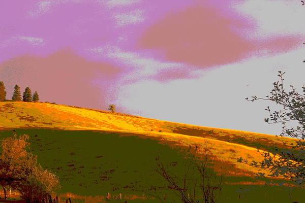 Posterize Photograph - Hillside by Jean Evans