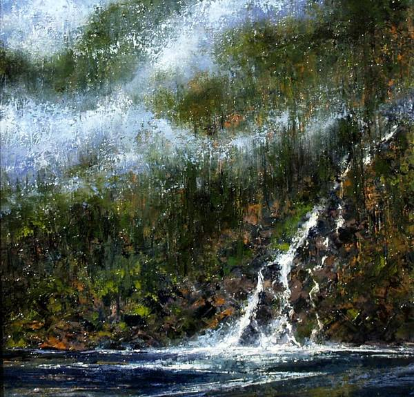 Stream Wall Art - Painting - Hillside Run-off by Jim Gola