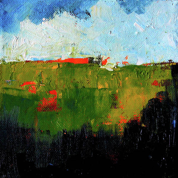 Wall Art - Painting - Hilltop Abstract Landscape by Nancy Merkle