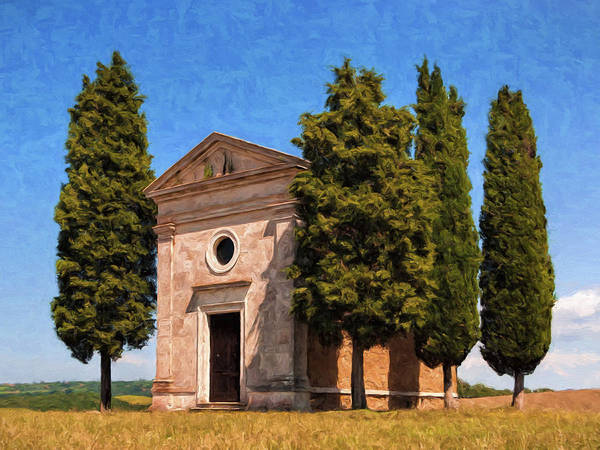 Painting - Hilltop Chapel Tuscany by Dominic Piperata