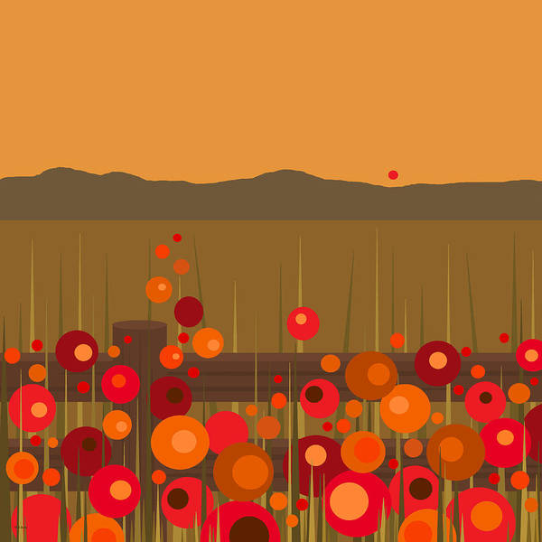 Digital Art - Hilltop Sunset by Val Arie