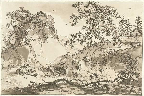 Meijer Painting - Hilly Landscape With A Resting Man, Hendrik Meijer, 1789 - 1793 by Hendrik Meijer