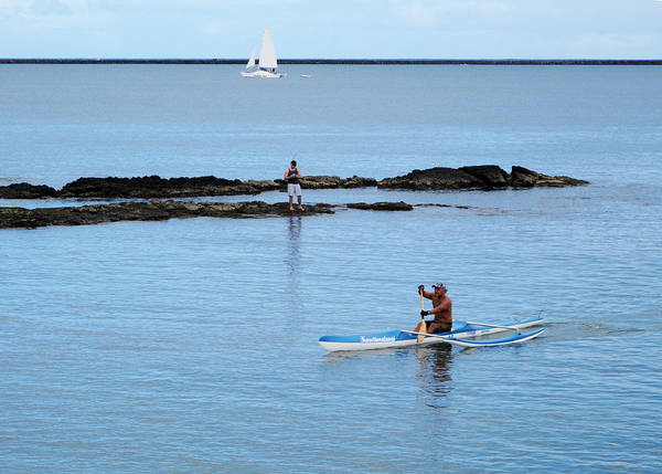 Fisher Island Photograph - Hilo Bay On The Big Island Hawaii Sea Kayaking Fishing And Sailing by Brendan Reals