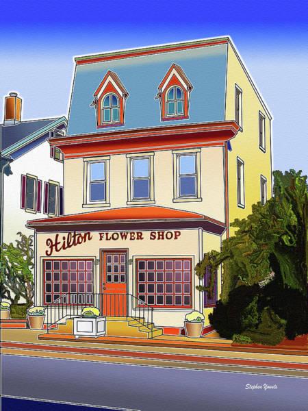 Frederick County Wall Art - Digital Art - Hilton Flower Shop by Stephen Younts