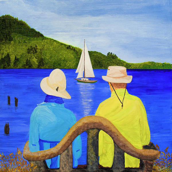 Painting - Him And Her by Dee Browning