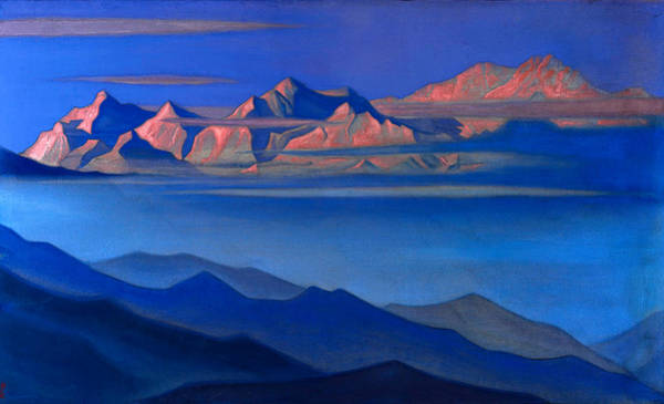 Wall Art - Painting - Himalayan Landscape by Nikolai Konstantinovich Roerich