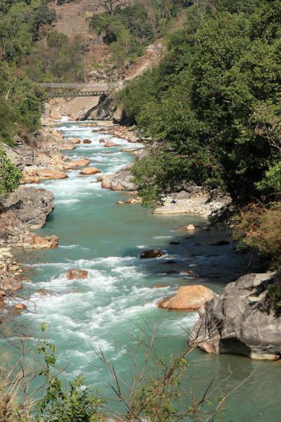 Photograph - Himalayan Mountain River by Aidan Moran