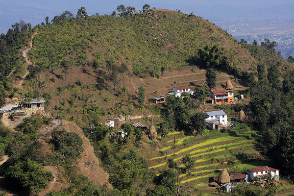Photograph - Himalayan Mountain Village by Aidan Moran