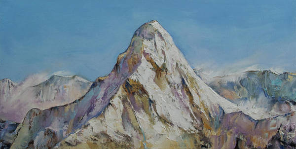 Oil Pastel Painting - Himalayas by Michael Creese