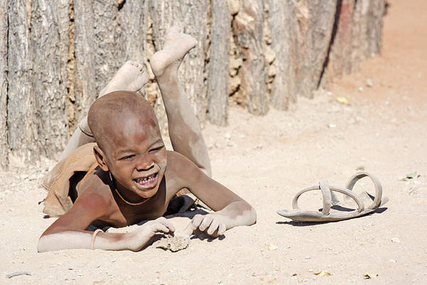 Photograph - Himba Boy With Sandal by Aivar Mikko