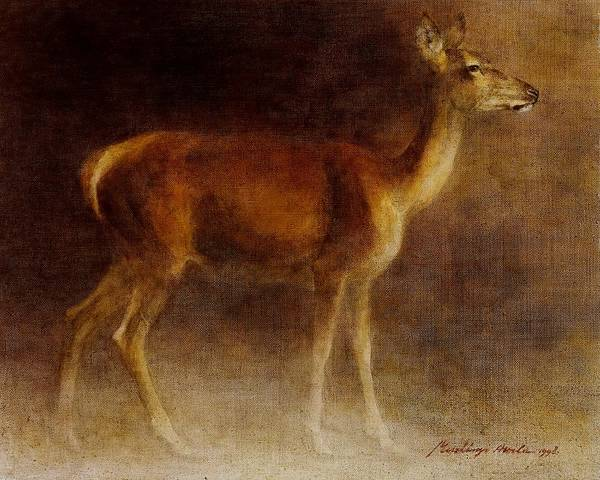 Painting - Hind by Attila Meszlenyi