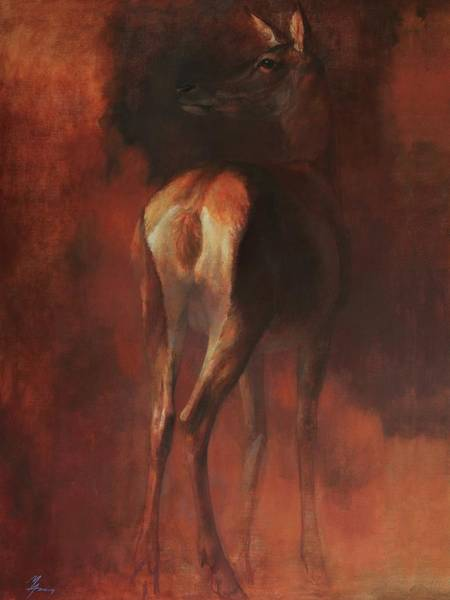 Painting - Hind From Behind by Attila Meszlenyi