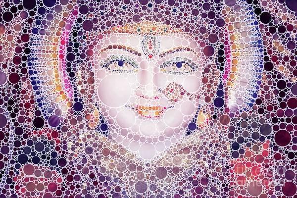 Gautama Digital Art - Hindu Eyes, Pop Art By Mb by Mary Bassett