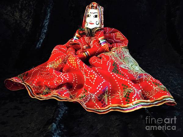 Photograph - Hindu Hand Crafted Doll by The Art of Alice Terrill