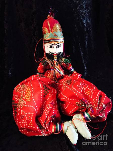 Photograph - Hindu Male Musician Doll by The Art of Alice Terrill