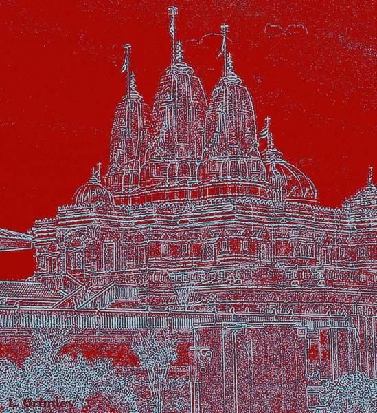 Wall Art - Digital Art - Hindu Temple I by Lessandra Grimley