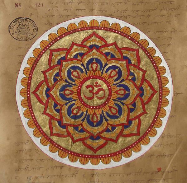 Wall Art - Painting - Hindu Vedic Artwork Om Yoga Kundalini Meditation Mandala Painting Artist India by A K Mundra