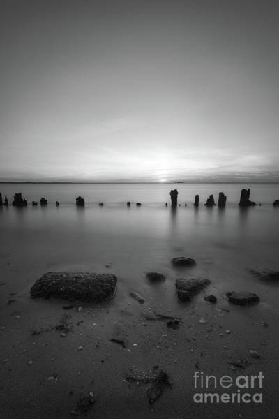 Wall Art - Photograph - Hint Of Lime Sunset Bw by Michael Ver Sprill