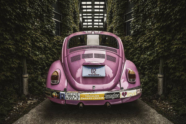 Volkswagen Wall Art - Photograph - Hippie Chick Love Bug by Scott Norris