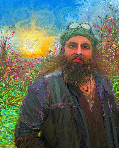 Painting - Hippie Mike by Hidden Mountain