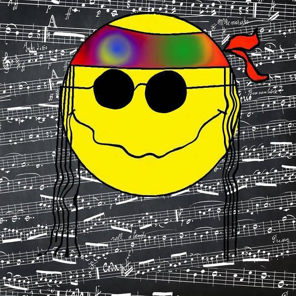 Hippy Digital Art - Hippie Music by Bill Cannon
