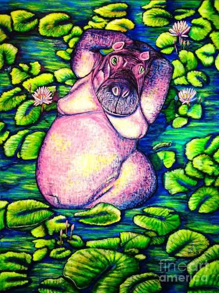 Ukraine Drawing - Hippo by Viktor Lazarev