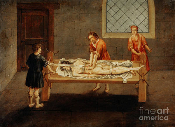 Photograph - Hippocratic Bench, Medical Back by Wellcome Images