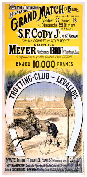 Wall Art - Drawing - Hippodrome Du Trotting Club Levallois by Vintage Treasure
