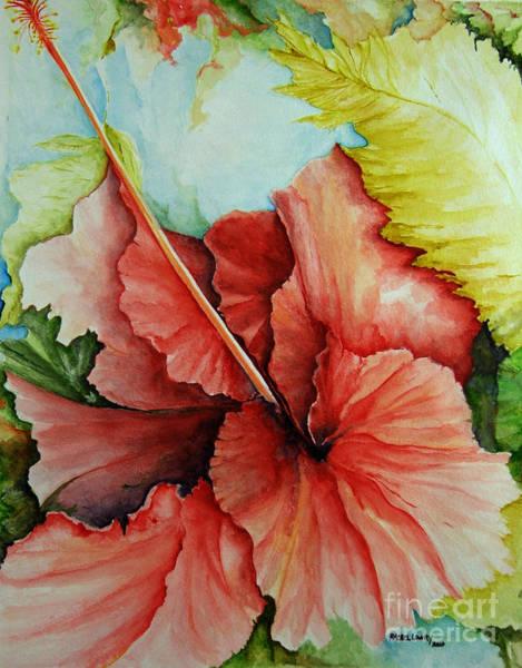 Painting - Hiroko's Hibiscus 2 by Rachel Lowry