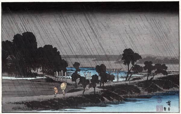Photograph - Hiroshige Travelers, C1830 by Granger