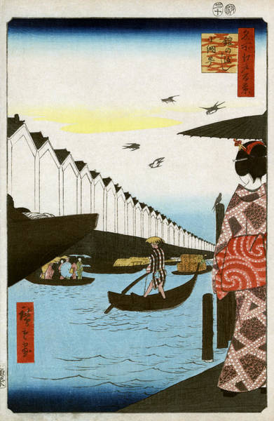 Photograph - Waterfront, 1857 by Hiroshige