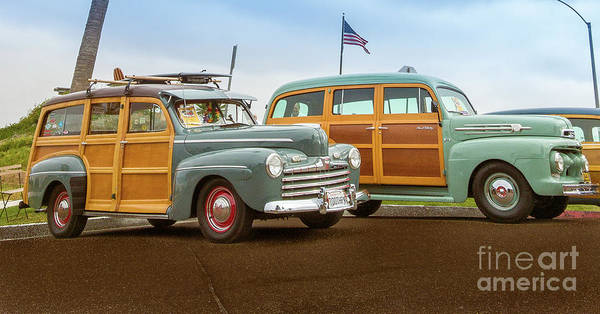 Photograph - His And Her Woodies by David Levin