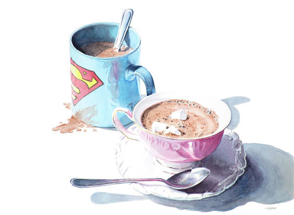 Painting - His And Hers Cocoa by Christopher Reid