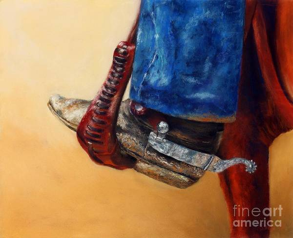 Wall Art - Painting - His Favourite Boots by Sabina Haas