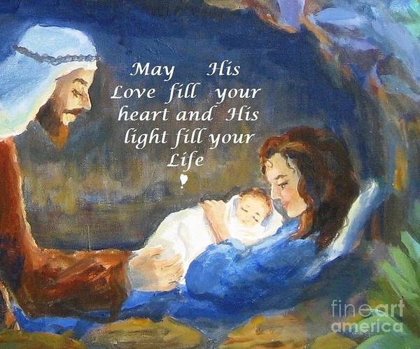 Wall Art - Painting - His Love And Light by Maria Hunt