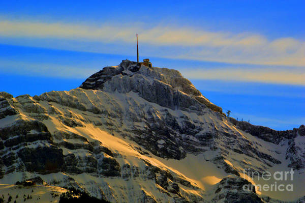 Photograph - His Majesty - Winter In Switzerland by Susanne Van Hulst