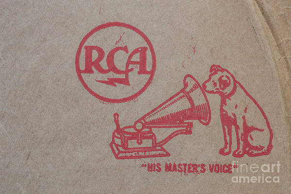 Photograph - His Masters Voice Rca by Edward Fielding