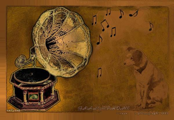 Digital Art - His Master's Voice by Valerie Anne Kelly