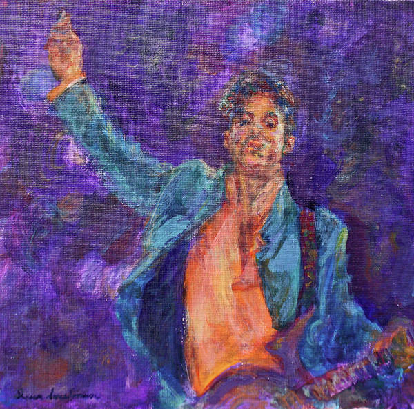 Painting - His Purpleness - Prince Tribute Painting - Original Art by Quin Sweetman
